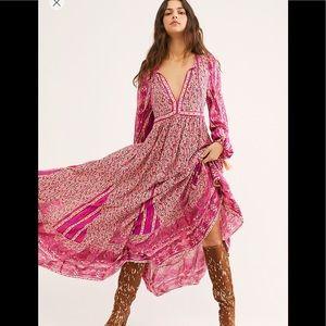 Free People Happy Feelings Midi Dress, Medium